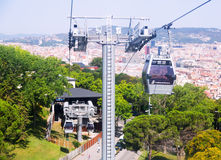 Montjuic Cable Car Royalty Free Stock Image
