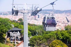 Montjuic Cable Car Stock Images