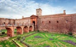 Montjuic Castle, Βαρκελώνη, Ισπανία Στοκ φωτογραφίες με δικαίωμα ελεύθερης χρήσης