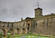 Montjuic castle Stock Photos