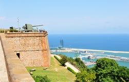 Montjuic castle, Barcelona Stock Images