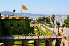 Montjuic castle, Barcelona Stock Photo