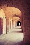 Montjuic Castle Barcelona. Catalonia, Spain. Royalty Free Stock Photos