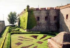 Montjuic Castle Barcelona. Catalonia, Spain. Stock Images