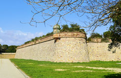 Montjuic Castle in Barcelona, Spain Royalty Free Stock Images