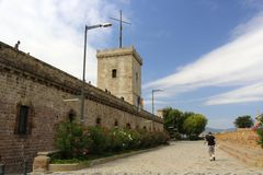 Montjuic castle Stock Photography