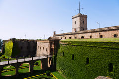 Montjuic Castle in summer. Barcelona Royalty Free Stock Photography