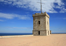 Montjuic castle tower Royalty Free Stock Images