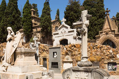 Montjuic Cemetery Royalty Free Stock Photo