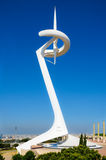 Montjuic Communications Tower in Barcelona, Spain Royalty Free Stock Photography