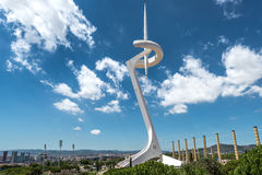 Montjuic Communications Tower, Barcelona, Spain Royalty Free Stock Photography