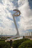 Montjuic Communications Tower in Barcelona, Spain Stock Images