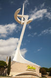 Montjuic Communications Tower in Barcelona, Spain Royalty Free Stock Image
