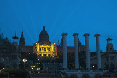 Montjuic at Dusks Stock Images