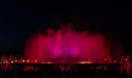 montjuic fontanny magia Zdjęcia Royalty Free