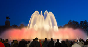 Montjuic fountain in Barcelona. Catalonia, Spain Stock Photo