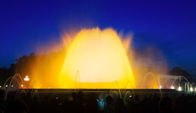 Montjuic fountain in Barcelona Royalty Free Stock Photography