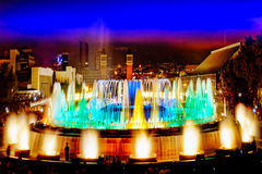 Montjuic Fountain. Stock Images