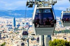 Montjuic funicular, panaramic view of Barcelona Stock Image
