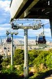 Montjuic funicular, vista panaramic de Barcelona Foto de archivo