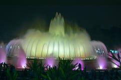Montjuic gekleurde fontein Stock Afbeelding