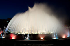 Montjuic Magic fountain Royalty Free Stock Photography