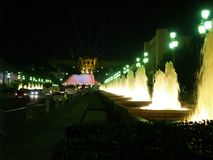 Montjuic (magic) fountain in Barcelona #16 Royalty Free Stock Photography