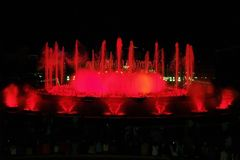 Montjuic (magic) Fountain In Barcelona 2 Stock Photography