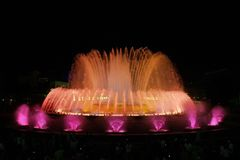 Montjuic (magic) Fountain In Barcelona 5 Royalty Free Stock Photos