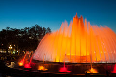 Montjuic Magic Fountain show Royalty Free Stock Images