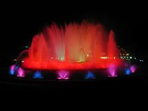 Montjuic magic fountains Royalty Free Stock Photo