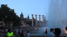 Montjuic (magische) fontein stock video