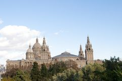 Montjuic National Palace Royalty Free Stock Images