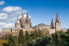 Montjuic National Palace Royalty Free Stock Photos