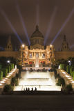 Montjuic in the night Royalty Free Stock Images