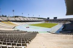 Montjuic Olympic Stadium. In Barcelona city Stock Photo