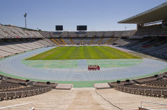 Montjuic Olympic Stadium. In Barcelona city Royalty Free Stock Images