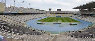 Montjuic olympic stadium, Barcelona Stock Photo