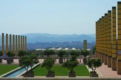 Montjuic - parco Barcellona olimpica Fotografia Stock