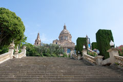 Montjuic Royal Palace Royalty Free Stock Photos