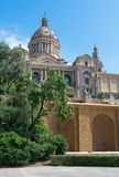 Montjuic Royal Palace Royalty Free Stock Images