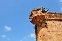 Montjuic Schloss, Barcelona Stockfotos