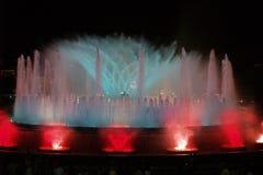montjuic springbrunnmagi för 9 barcelona Royaltyfri Foto