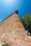 Montjuic Stronghold in Barcelona Spain stock photography