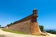 Montjuic Stronghold in Barcelona Spain Stock Image