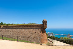 Montjuic Stronghold in Barcelona Spain Royalty Free Stock Photo