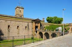 Montjuich Schloss in Barcelona, Spanien Lizenzfreie Stockbilder