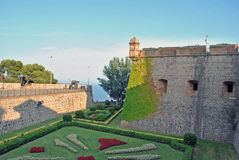 Montjuich slott, Barcelona Arkivbild
