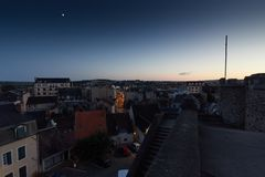 Montlucon in the evening, France royalty free stock image