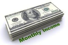 Montly inkomst royaltyfri illustrationer